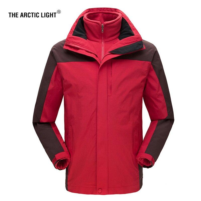 La veste de Snowboard arctique LIGHT grande taille hommes vestes de neige imperméables manteau de Ski thermique mâle polaire randonnée en montagne manteau lâche