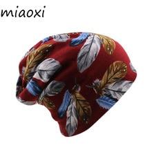 miaoxi New Adult Women Headdress Cap For Girls Hat Beauty Autumn Winter Warm Beanies Skullies Lady Fashion Hats Floral Caps