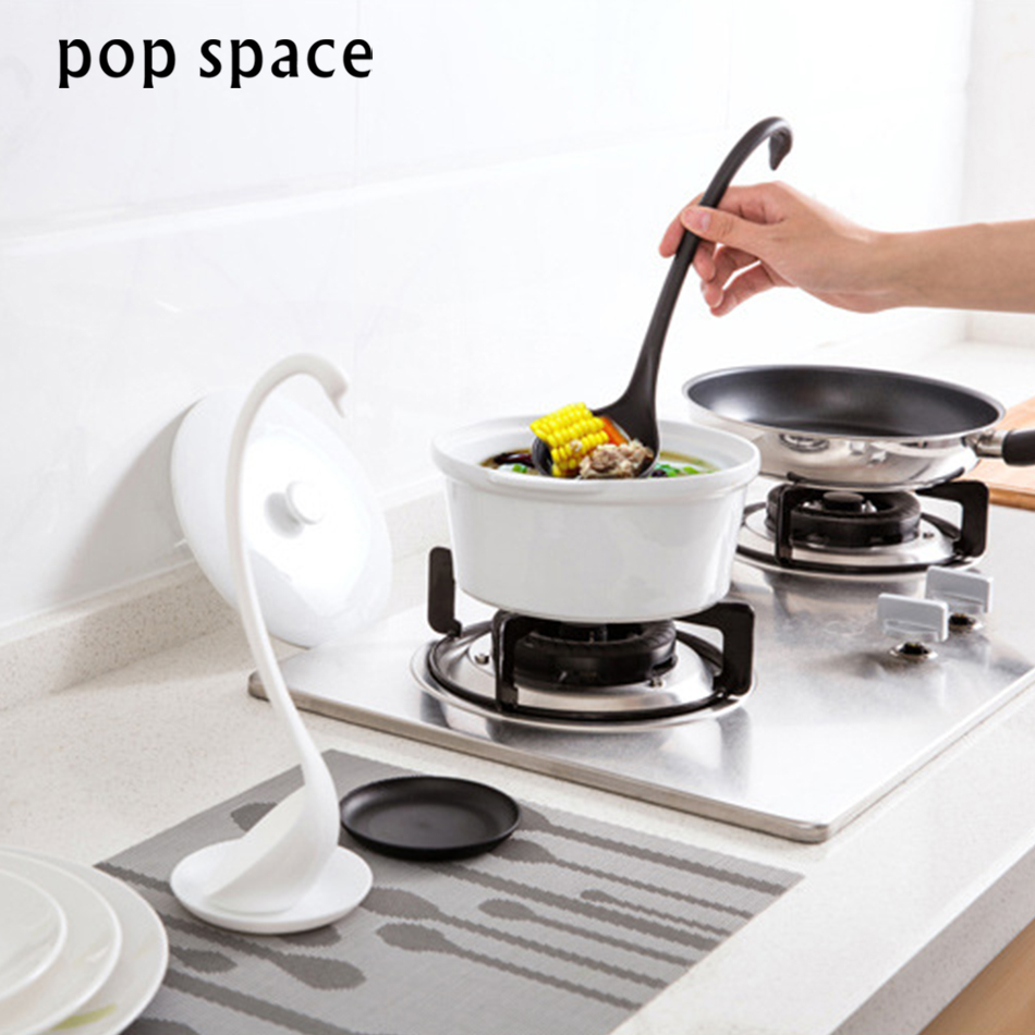 Creative Swan Soup Spoon Long Handle Porridge Monster Spoons with Tray Kitchen Cooking Tools Tableware Kitchen accessories