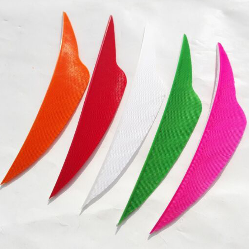 100PCS 4 quot Archery Shield Arrow Feather Right Wing Arrow Cut Vanes Natural Turkey Fletching Hunting Compound Recurve Bow Longbow in Bow amp Arrow from Sports amp Entertainment