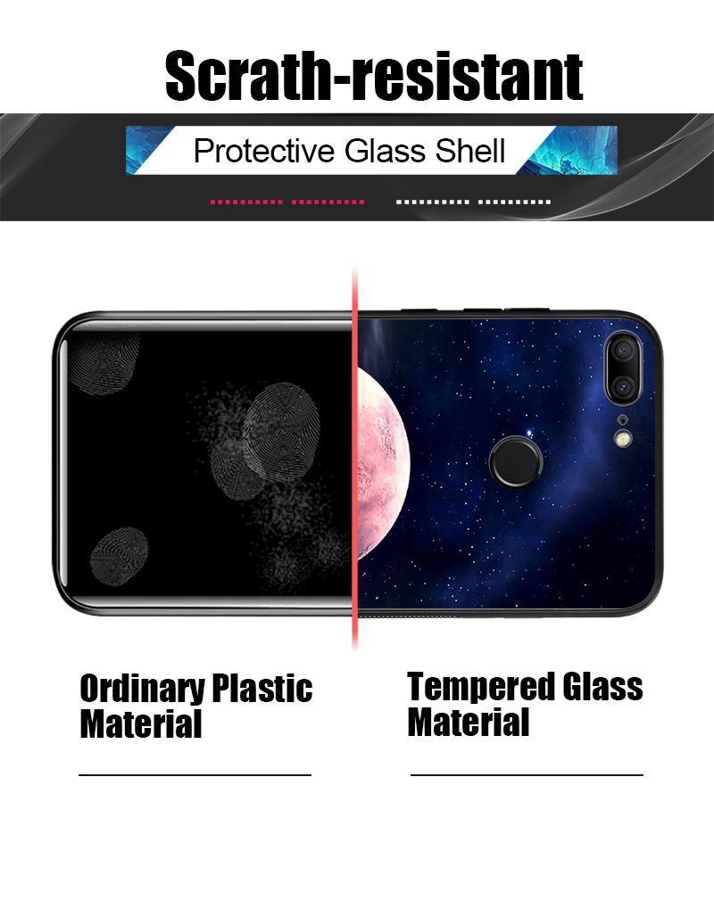 Odifren Space Case on for Huawei Honor 9 Lite 10 Case Cover Mate 10 Lite Glass Coque Phone Case for Huawei P20 Lite Pro P Smart (16)