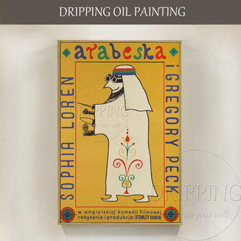 Artist Hand-painted Special Wall Art Painting Modern Art Arabesque Oil Painting on Canvas Arab Portrait Oil Painting for Decor