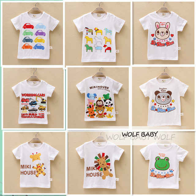 Retail 3pcs/pack 10M-4years short-sleeve print T-shirt baby kids children Clothing girls boys Clothes Infant Garment summer