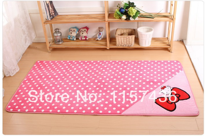 Hot Selling Hello Kitty Carpet, Bedroom Mats Living Room Hallway Rug, Wholesale and Retail, 50*80cm,Free Shipping