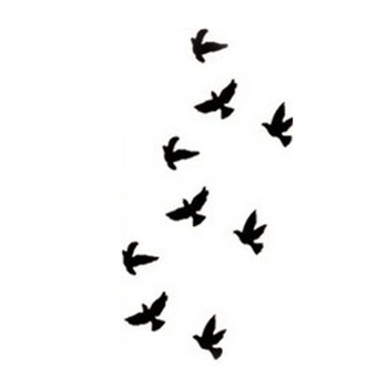 2016 New Design 1pcs The  Bird Flash Tattoo Removable Waterproof Temporary Tattoo Stickers Temporary Body Art Painting-HC-73