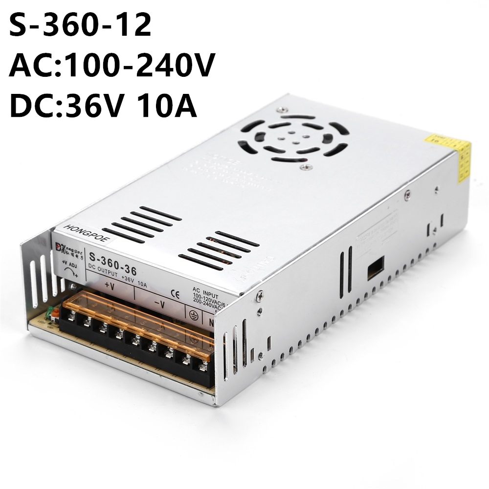 100PCS 48V  36V  Switching Power Supply 360W AC 100-240V Input DC to 48V 7.5A OR 36 10A Packing can be DIY meanwell 12v 350w ul certificated nes series switching power supply 85 264v ac to 12v dc
