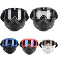 New Detachable Modular Motorcycle Riding Helmet Goggles Shield Nose Face Mask For Moto Helmets