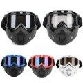 Nova destacável modular equitação da motocicleta óculos de proteção do capacete escudo nariz máscara facial para capacetes de moto