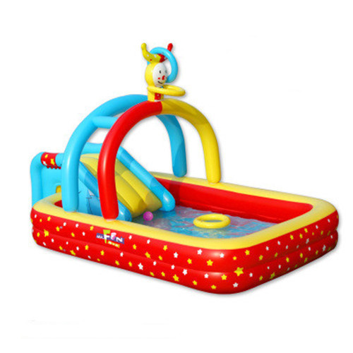 Kingtoy Baby large Inflatable swimming Pool With Inflatable Slide Toy popular best quality large inflatable water slide with pool for kids