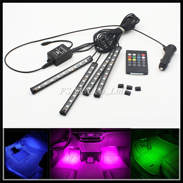 Remote control RGB LED strips RGB LED interior Lights Strips RGB pathway lights Lamp Strips LED DRL daytime running light strips