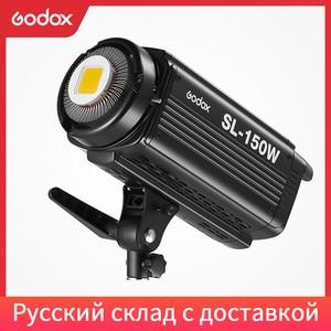 Image 1 - Godox SL 150W 150WS 5600 K الأبيض النسخة لوحة ال سي دي LED الفيديو الضوئي المستمر الناتج إضاءة الاستوديو الشحن DHL
