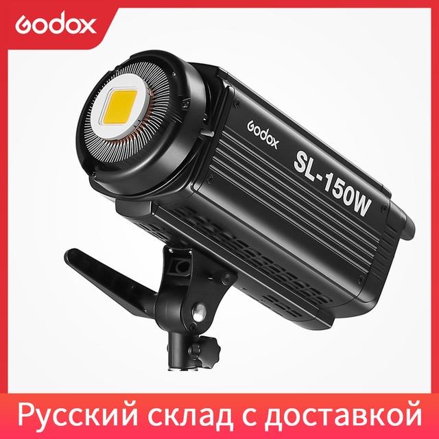 Godox SL 150W 150WS 5600 K الأبيض النسخة لوحة ال سي دي LED الفيديو الضوئي المستمر الناتج إضاءة الاستوديو الشحن DHL