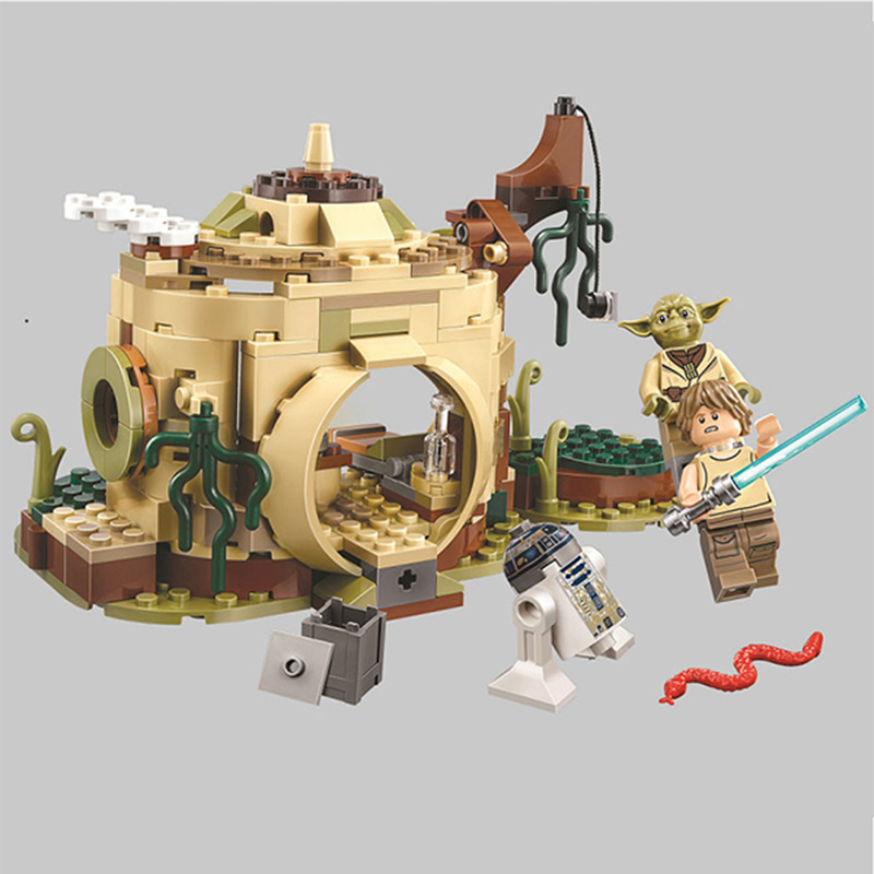 Star Wars Series10904 Yodas Hut Luke Skywalker R2-D2 Building Block 241pcs Bricks Toys Compatible With LegoingsStar Wars Series10904 Yodas Hut Luke Skywalker R2-D2 Building Block 241pcs Bricks Toys Compatible With Legoings