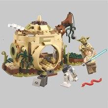Star Wars Series10904 хижина йода Луки Скайуокер R2-D2 строительный блок 241 шт совместимые части игрушек legoings детские игрушки подарок