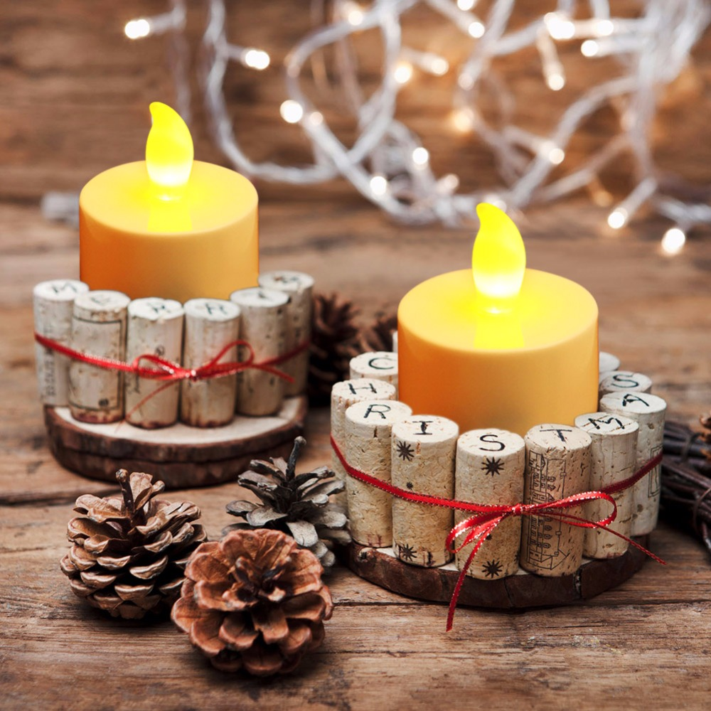 50pcs/lot Flicker Tea Candles Light New LED Flameless Tealight Battery Operated for Wedding Birthday Party Christmas Decor