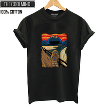 COOLMIND QI0312B 100% cotton summer loose o-neck women T shirt casual short sleeve female cool