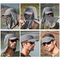 Outdoor Sport Fishing UV Protection Face Neck Cover Sun Protect Cap For Fishing Hat Protect Cap Unisex