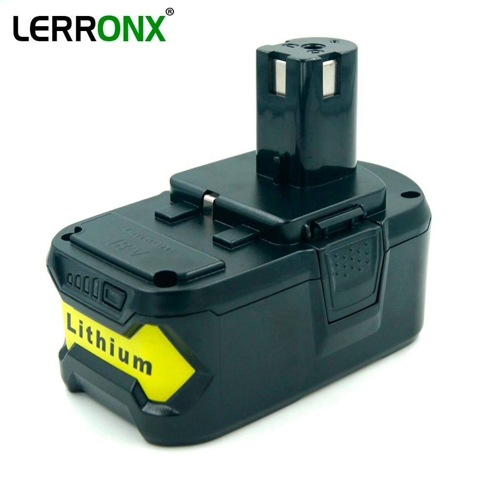 Batterie rechargeable Li-ion haute capacité 5000 mAh 18 V pour batterie de rechange pour outils électriques Ryobi ONE P103 P104 P105 P108 P109