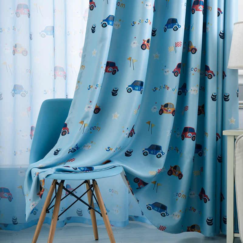 Завидные Мультяшные автомобильные шторы, оконные занавески, отвесные занавески для детей, детская комната, гостиная, детские шторы для мальчиков