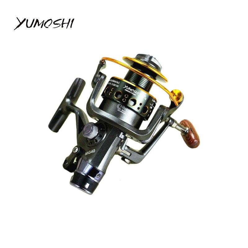 Yumoshi 6000-3000 carrete de pesca giratorio de Metal 10 + 1BB carrete de pesca de carpa de agua salada relación de velocidad de freno delantero y trasero 5,0: 1 5,2: 1