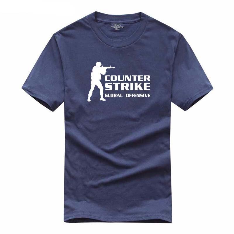 Брендовая Футболка Горячая игра футболка Counter Strike Global Offensive футболка 2018 Лето Для мужчин Повседневное игры команды смешные футболки