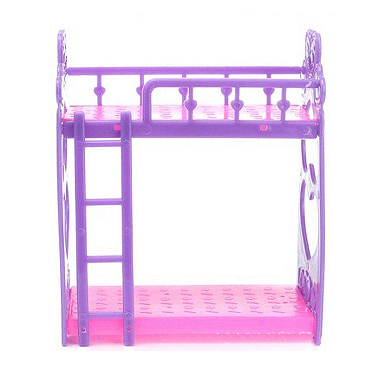 1pcs/Set Cute Hot Pink Dolls <font><b>House</b></font> Plastic Bunk Bed Play <font><b>House</b></font> kids <font><b>Toys</b></font> Assembly Doll Furniture Accessories <font><b>Toys</b></font> <font><b>For</b></font> Children image