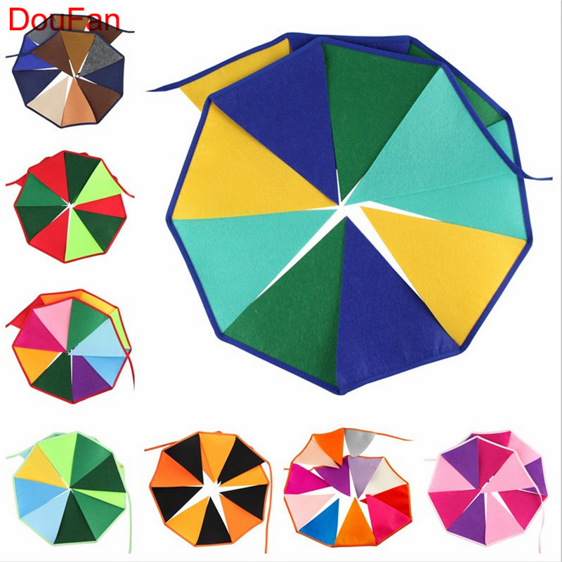 DouFan 1set Rainbow Color Felt Non Woven Pennant Vlag Banners - Feestversiering en feestartikelen