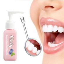 5 Type Baking Soda Toothpaste Hand Push Type Blueberry Vegetation Toothpaste Tooth Whitening