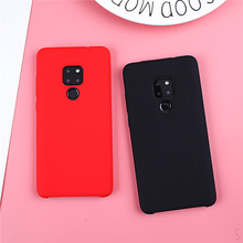 מקורי נוזל סיליקון מקרה עבור Huawei P20 Lite כיסוי רגיל ברור פגוש עבור Huawei Mate 20 לייט P20 פרו P30 פרו קאפה Coques
