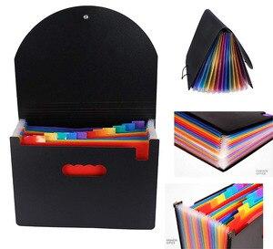 Image 5 - Expanding A4 For File Folder OffiConsent Plastic Rainbows Organizer A4 Letter Size Portable Documents Holder Wallet Desk Storage