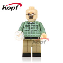 Single Sale Super Heroes Breaking Bad Walter White Jesse Pinkman Brown Suit Building Blocks Education Toys for children KL062(China)