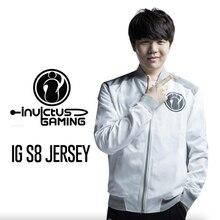 цена на lol 2018 s8 Finals IG Invictus Gaming Team Team Conquered zipper Sweatshirt Men Lol Same Jacket
