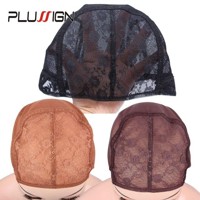 Plussign Best Easy Cap 5pcslot Wig Cap For Weave Brown Lace Wig Cap