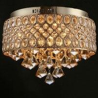 Современные Хрустальные потолочные светильники для Гостиная Luminarias Para Sala Plafon светодио дный кристалл потолочный светильник светильники для