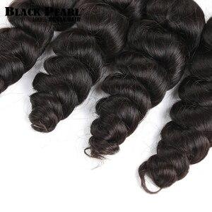 Image 5 - Black Pearl Pre Colored Remy Loose Wave Human Hair Bundles Brazilian Hair Bulk 1 Bundle Braiding Hair Extension Braids Hair Deal