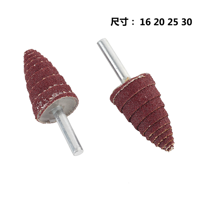 Conical Shank Blades Horn Tip Wood Grinding Polishing Sandpaper Tower Shafts With Sharpeners