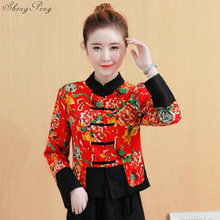 82b2e5f54 Traditional chinese clothing for women cheongsam top mandarin collar womens  tops and blouses oriental China clothing