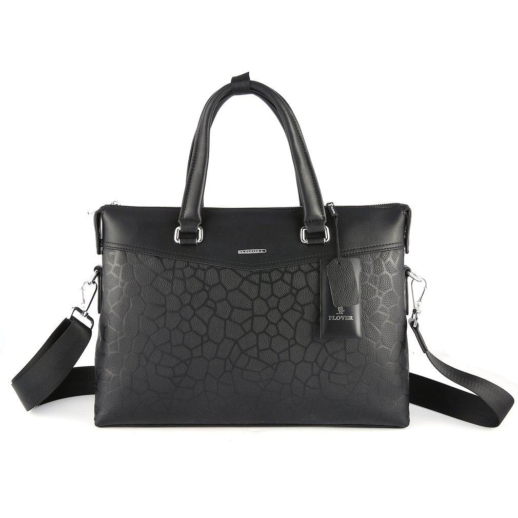 Plover натуральной коровьей Бизнес сумка Портфели сумка через плечо с личи зерна и Портативный ручки и съемный ремень GD9868 5A