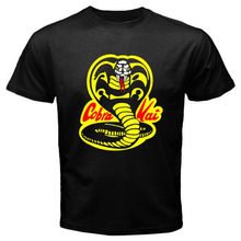 T Shirts Casual Brand Clothing Cotton New Cobra Kai Karate Kid Movie Men'S T Shirt