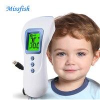 Alta precisão Não-Contato do bebê ear Corpo de Digitalização digital Infrared Ir Termômetro de ar recarregável