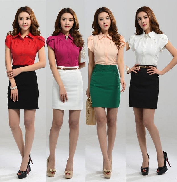 Aliexpress.com : Buy New 2015 Summer Formal Women Skirt Suits Two ...