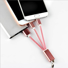 10pcs 2 in 1 Micro Multifunction USB Sync Data Charger Adapter Keychain Cable For Samsung S7  edge for iPh 5s 6 7 8 Plus