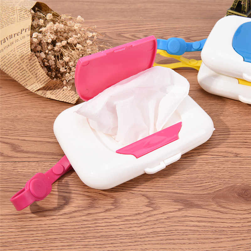 Plastic Baby Travel Storage Holder  Wet Wipes Box Changing Dispenser Tissue Boxes Wipe Case Child
