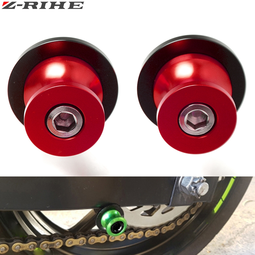 FOR Z750 logo CNC motorcycle accessories Motorcycle Swingarm Sliders Spools For KAWASAKI Z 750 R ABS