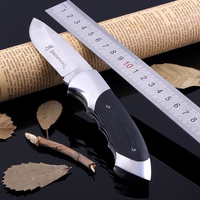 Folding Knife 3Cr13 Blade Rosewood Handle Titanium Tactical Knife Pocket Camping Tool Fast Open Hunting Knife