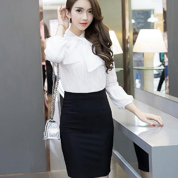 1810b28bc8d62 Classic Red Black Pencil Skirt Elegant Office Ladies Work Short Skirt 3XL  4XL 5XL Plus Size High Waist Women Skirt Mini AF120