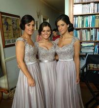 2015 elegante Beste Verkaufende Sicke Abendkleid mit Sweetheart und Chiffon Bodenlangen Abendkleider