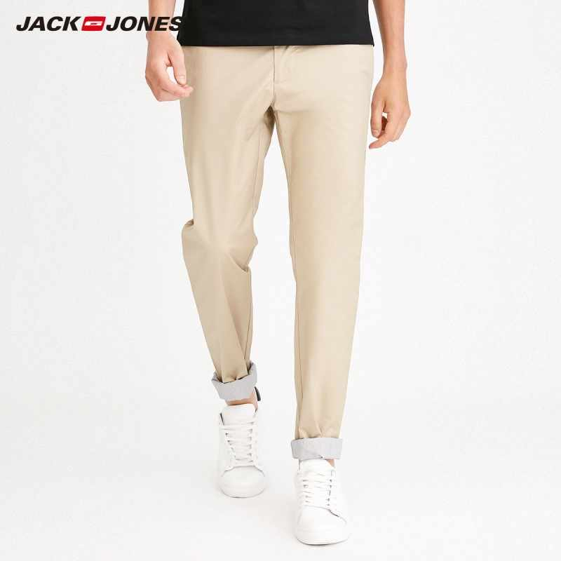 Jackjones Mannen Herfst Stretch Katoen Slim Fit Casual Broek Basic Menswear 218214504
