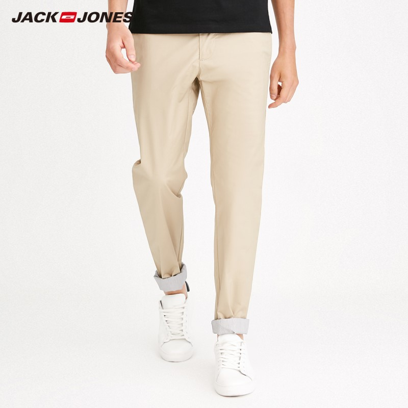 JackJones Men's Autumn Stretch Cotton Slim Fit Casual Pants Basic Menswear 218214504