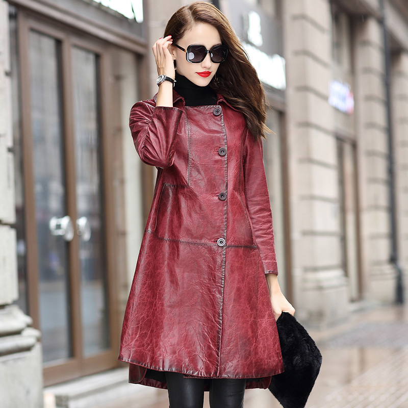 Real Genuine Leather Jacket Spring Autumn Coat Women Clothes 2019 Korean Vintage Sheepskin Coat Chaqueta Mujer BL18T929 ZT3094